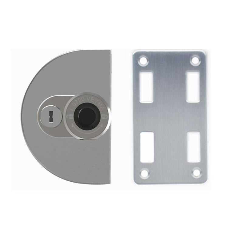 Glass Door Fingerprint Lock Bluetooth Management Key No Punching 304 Stainless Steel Smart Office Door Lock