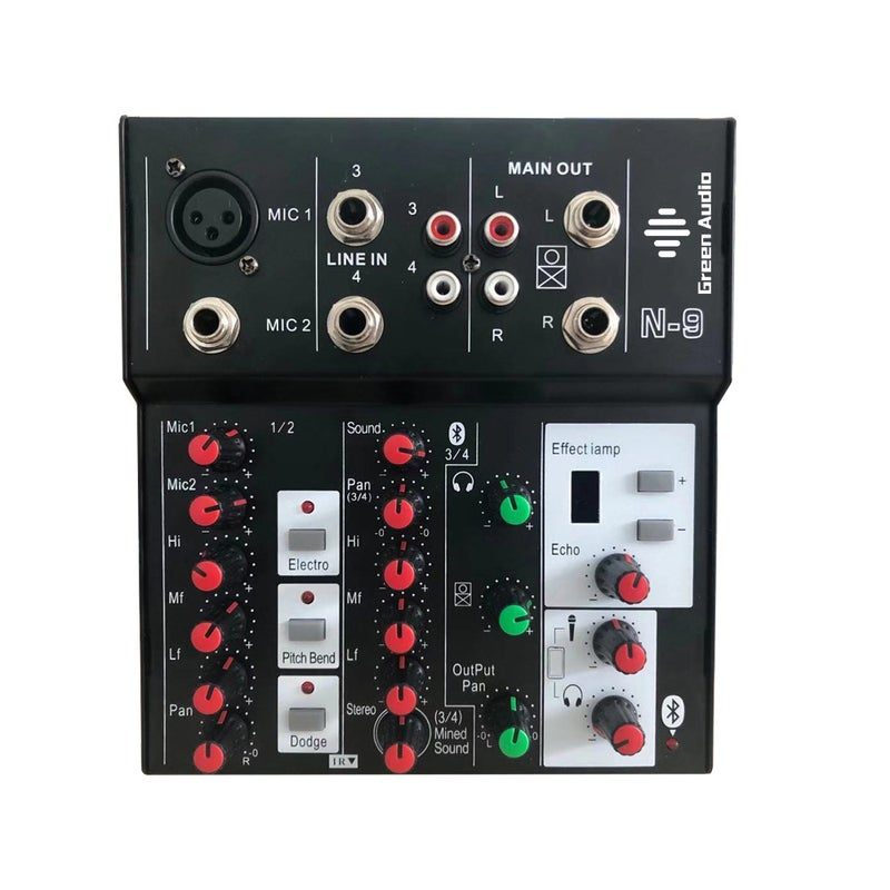 Professional Digital Small Mixer With Sound Card Mobile KTV Live Broadcast Multifunctional Equipment Set