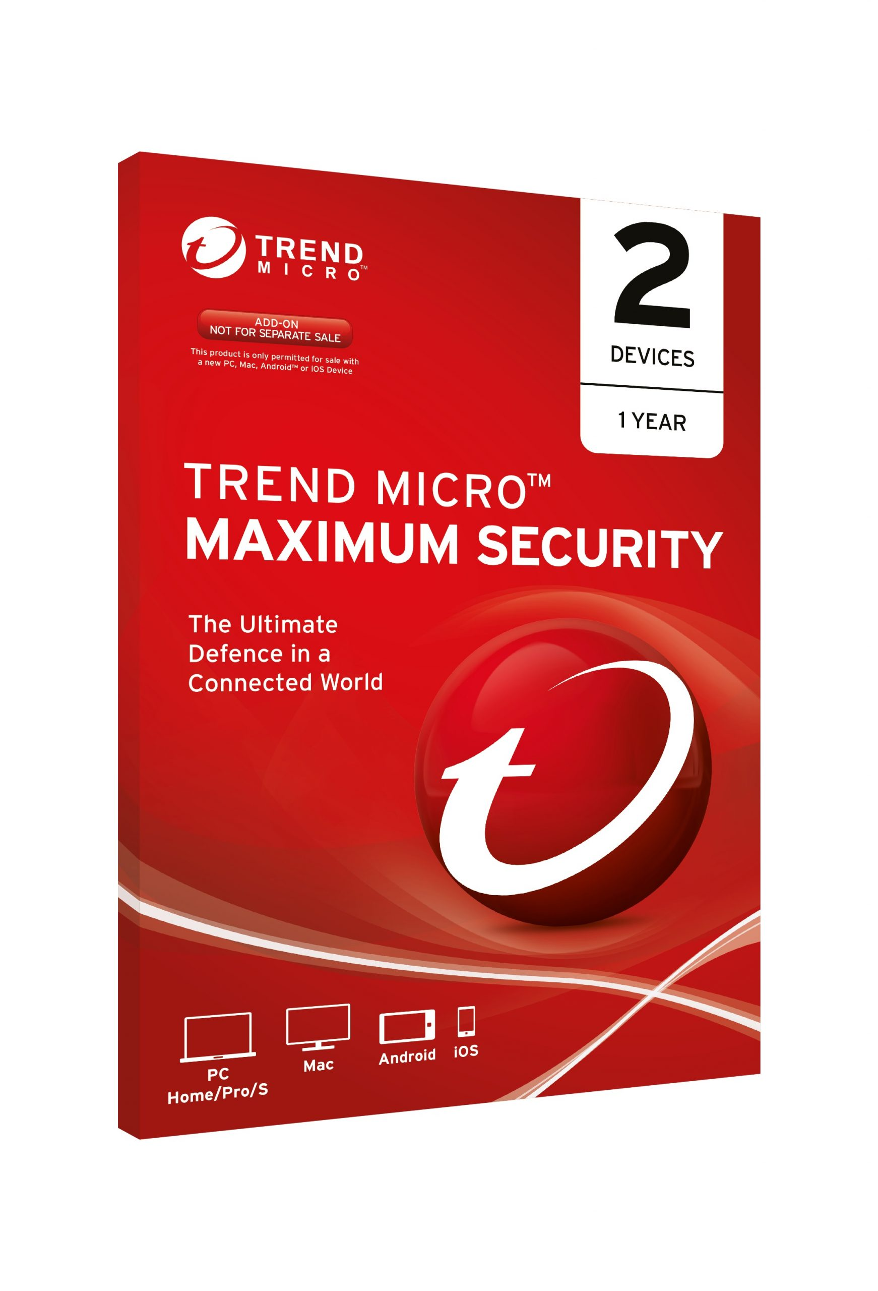 Trend Micro Maximum Security 2 Users/Devices 1 Year OEM