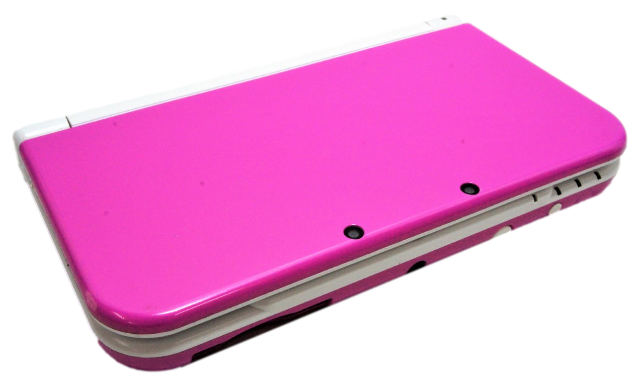 """Nintendo """"NEW"""" 3DS XL Handheld Console Dark Pink/White (Pre-Owned)"""