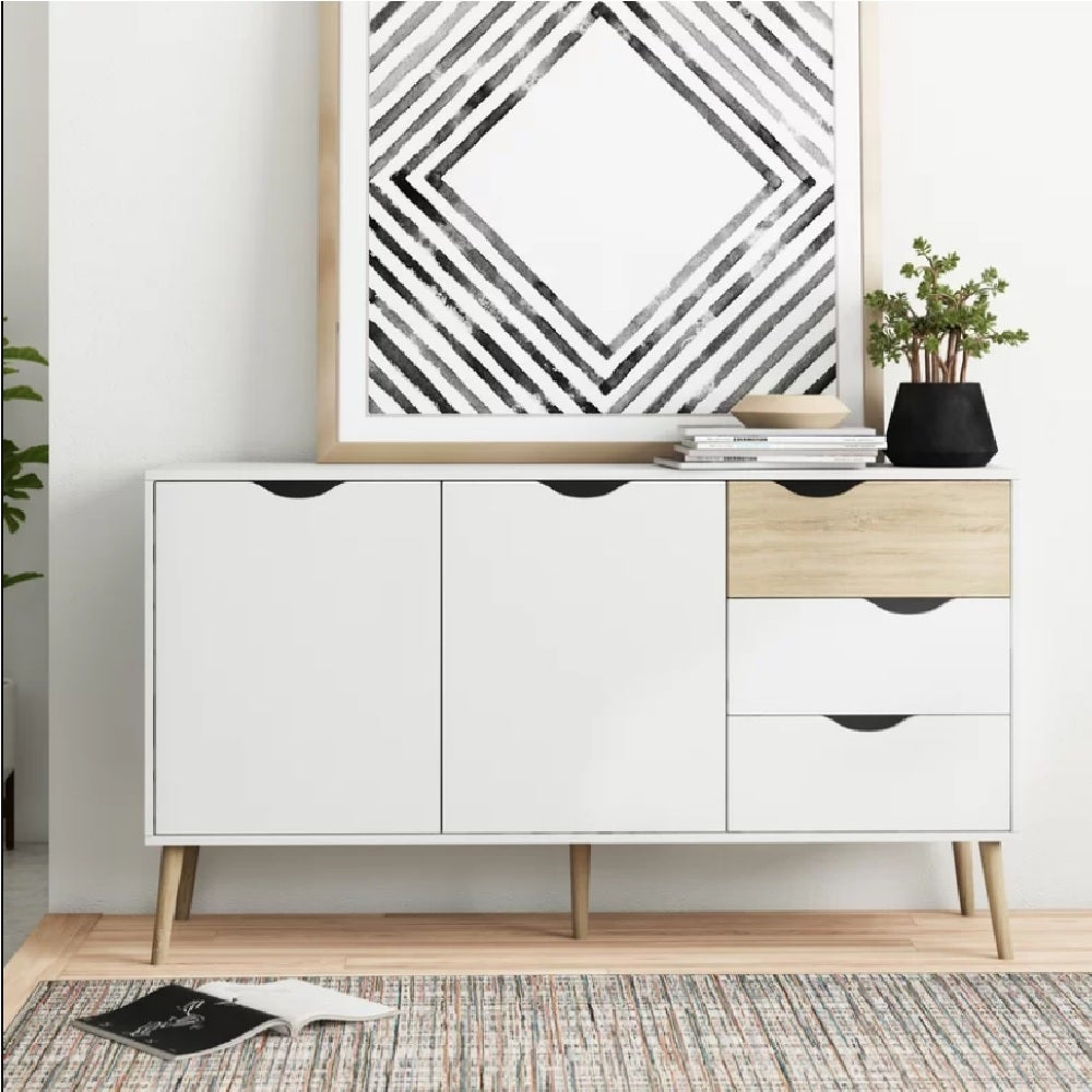 Cosmoliving Buffet Sideboard Cabinet Living Room Storage Drawers Hallway Table Kitchen Cupboard Drawer 1