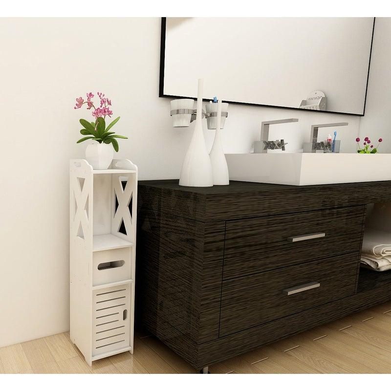 Small Bathroom Storage Corner Floor, Small Bathroom Floor Cabinet With Drawers