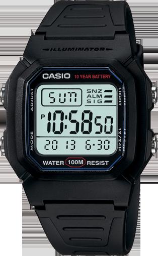 Casio Watch Sports Retro Swimming W-800H-1A W800 W-800 W-800H W800 100 Metres Water Resistant