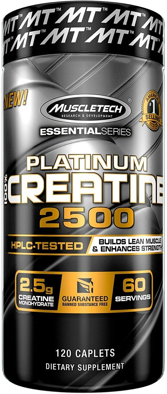 MUSCLETECH Platinum 100% Creatine 2500 mg, 120 Caplets
