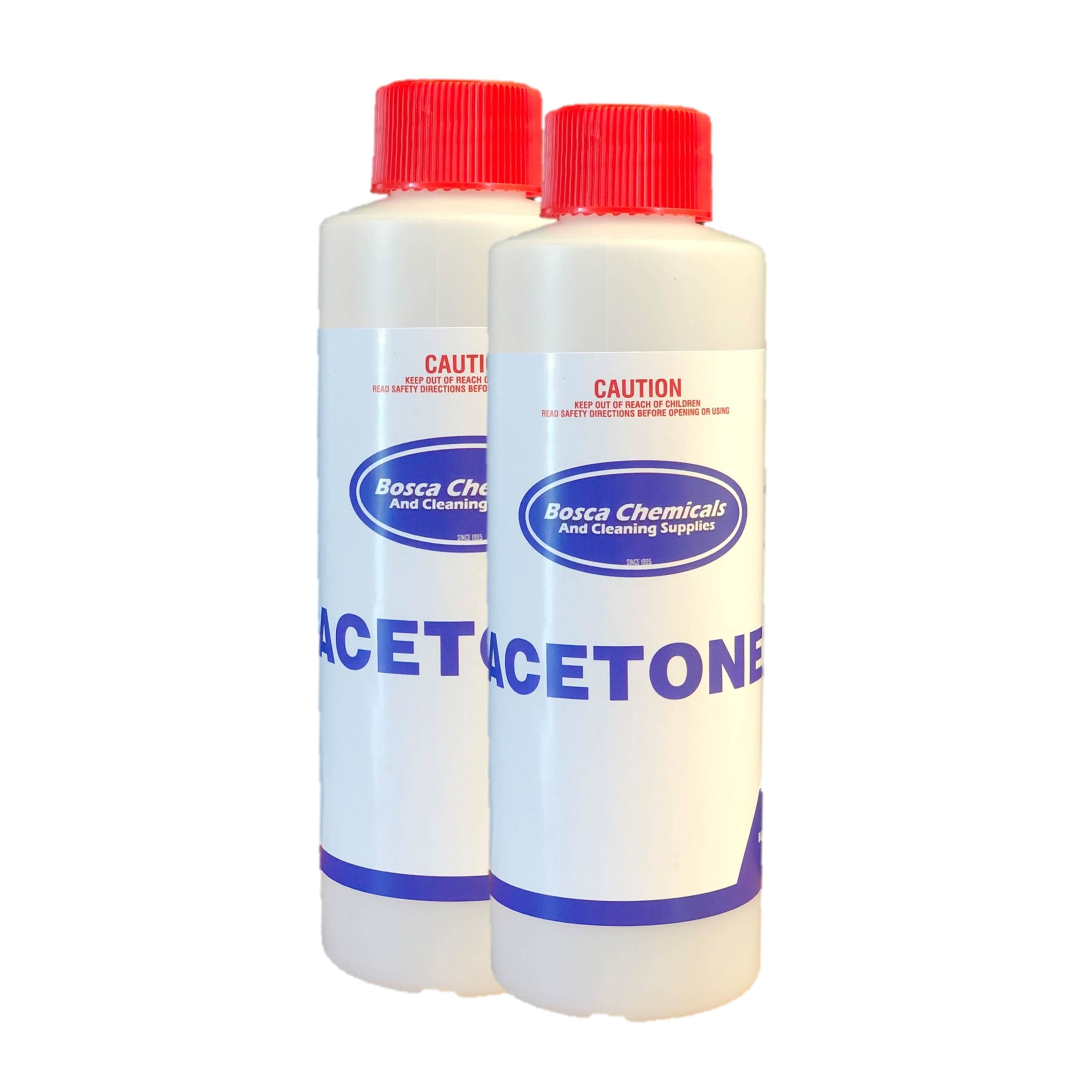 100% Pure Acetone 250ml - Twin Pack of Nail Polish Remover - Free & Fast Shipping