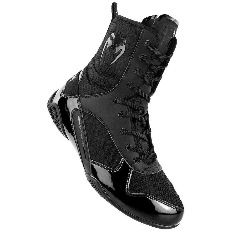 Venum Elite Boxing Shoes - Black Black