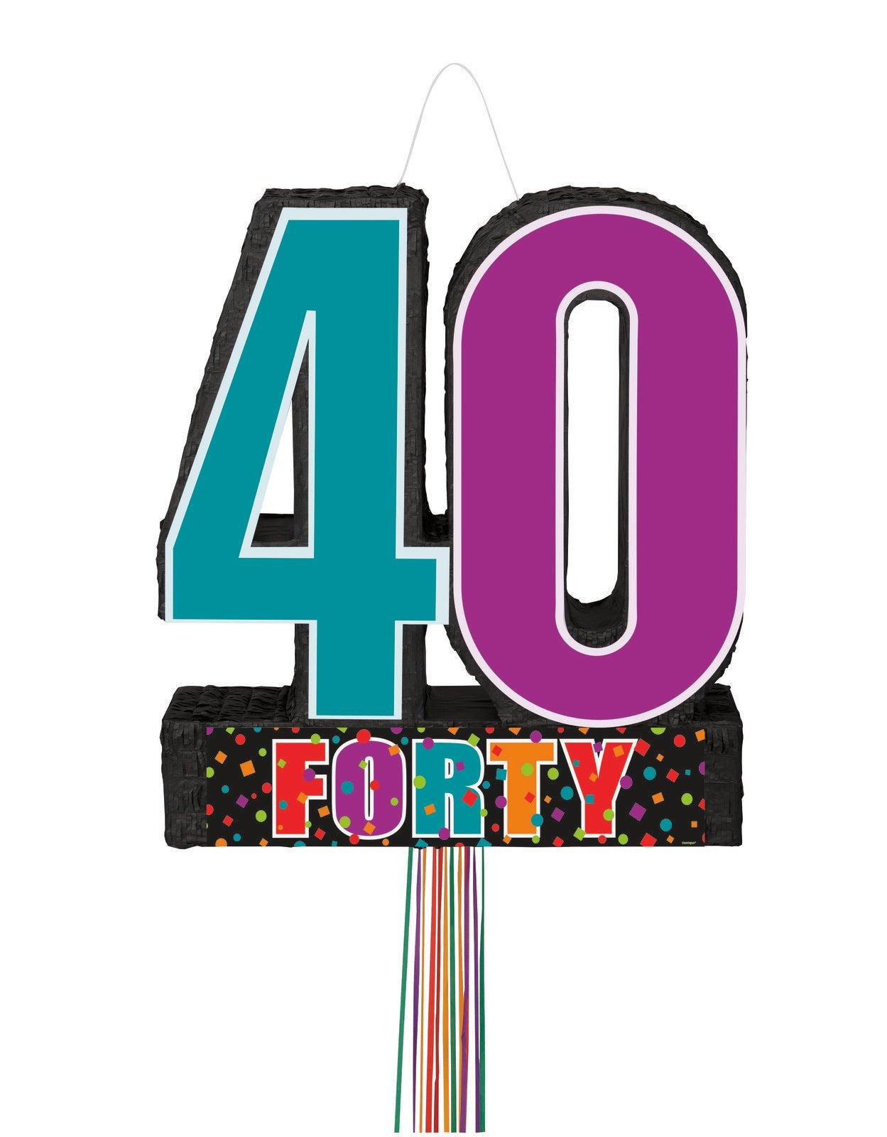 Birthday Day Cheer Pull Pinata - 40