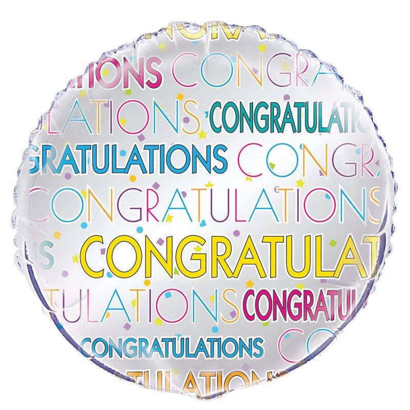 Congrats star 45cm Foil Balloon Packaged