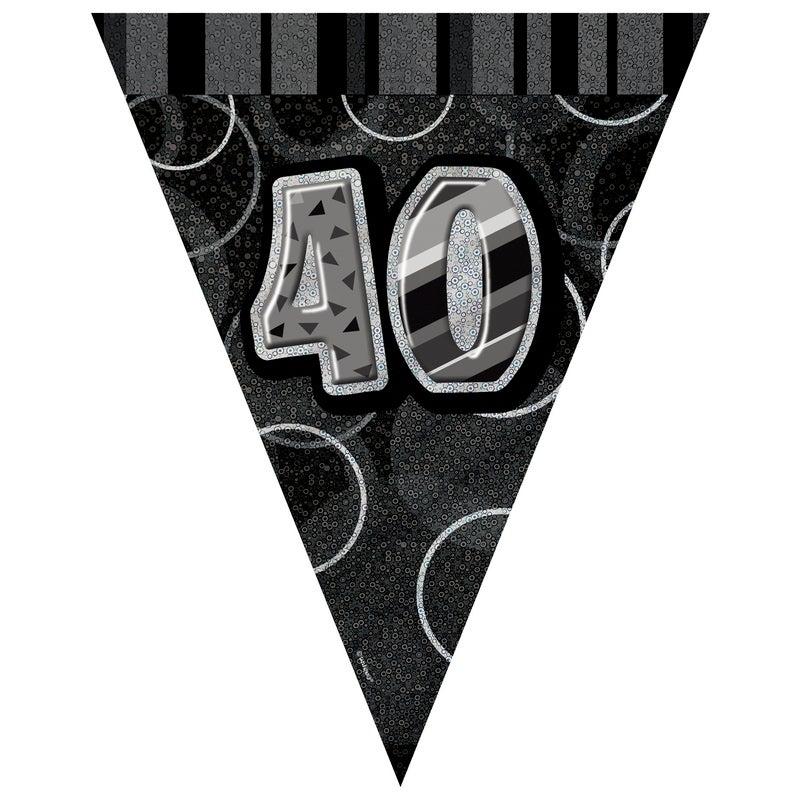 Glitz Black Flag Banner - 40