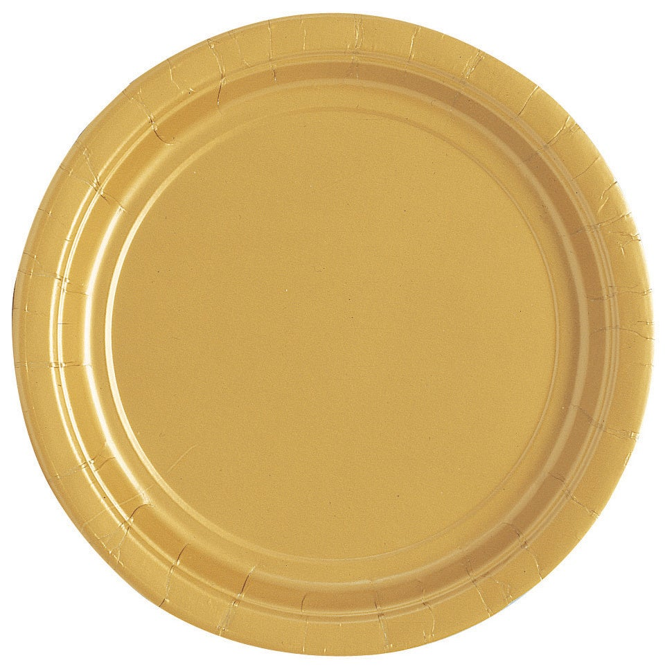 Gold Paper Plates 17cm 20 Pack