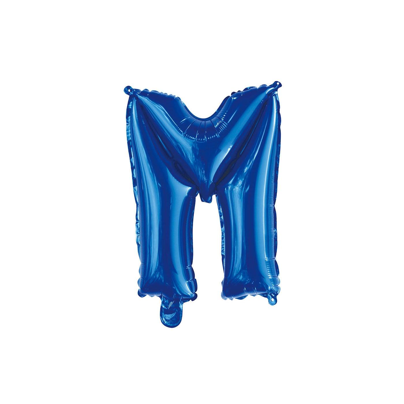 Royal Blue M Letter Foil Balloon 35cm