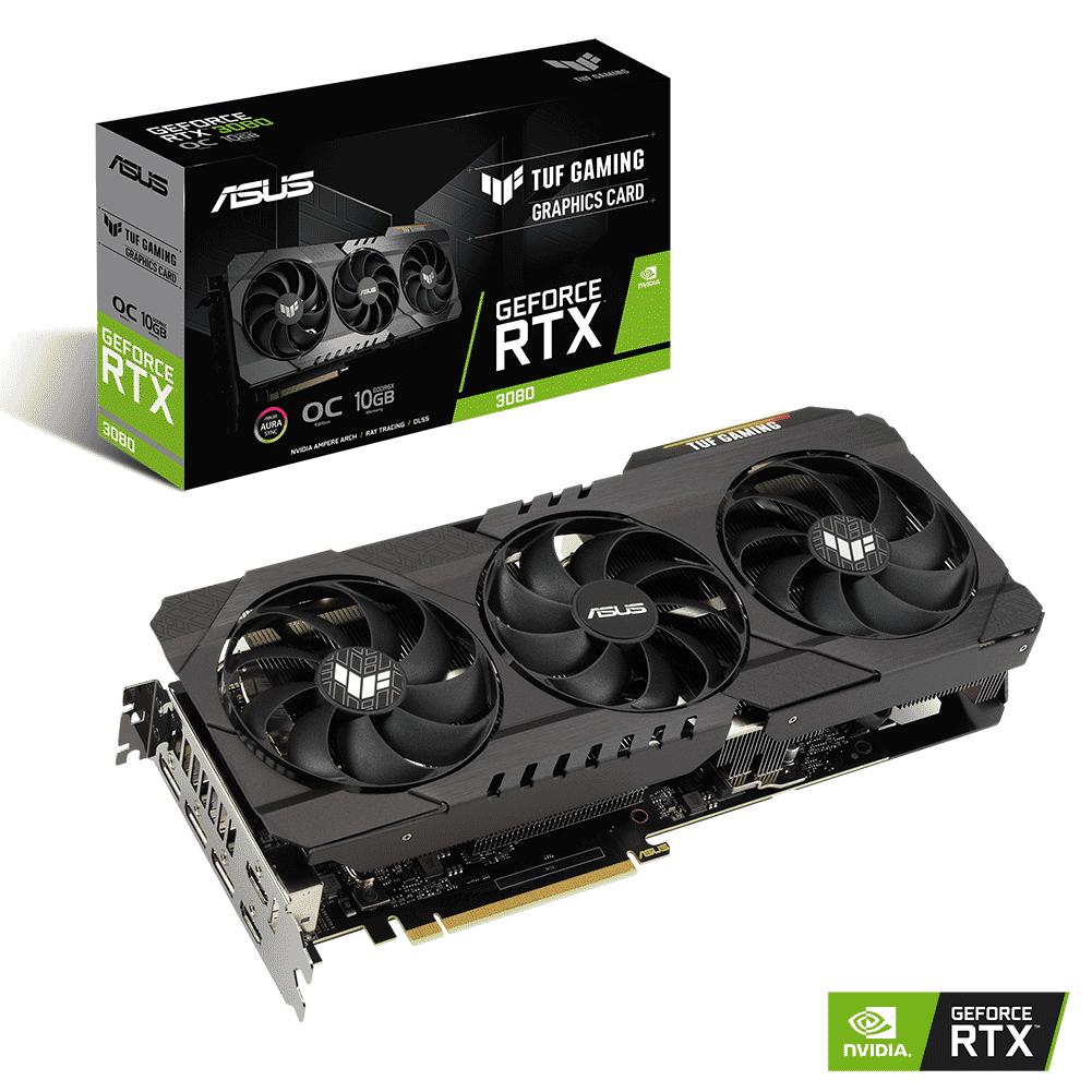 ASUS GeForce RTX 3080 TUF Gaming OC 10GB Video Card