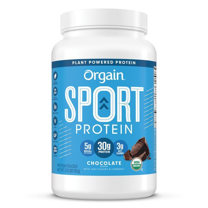 Orgain Sport Protein Organic Plant Based Powder - Chocolate 912g