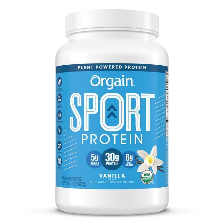Orgain Sport Protein Organic Plant Based Powder - Vanilla 912g