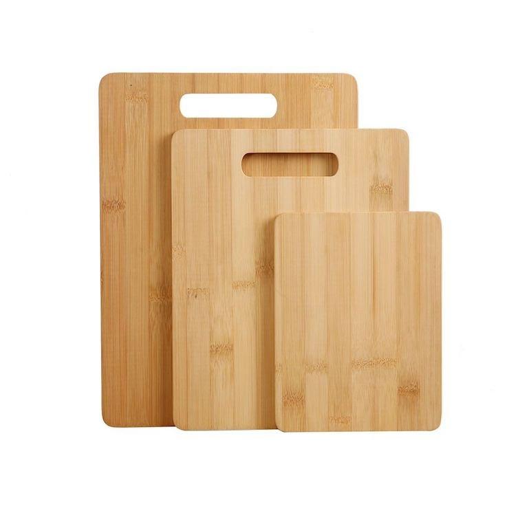 Gourmet Kitchen 3 piece bamboo cutting board set
