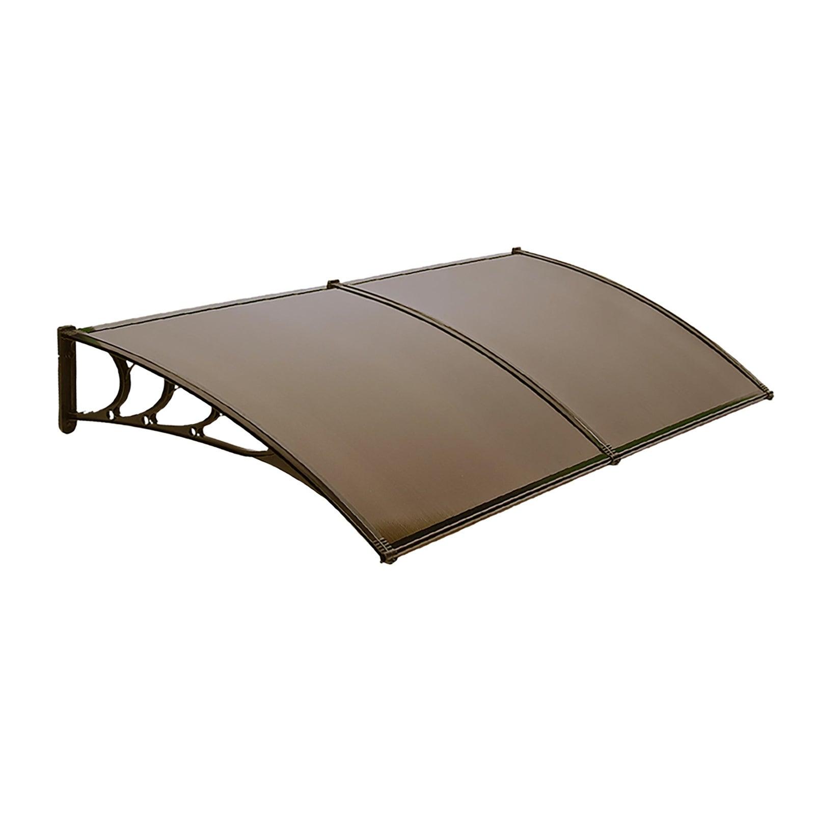 1m x 2m Glasshaus Window Awning Door Awning Door Canopy Outdoor Patio Sun Shield DIY