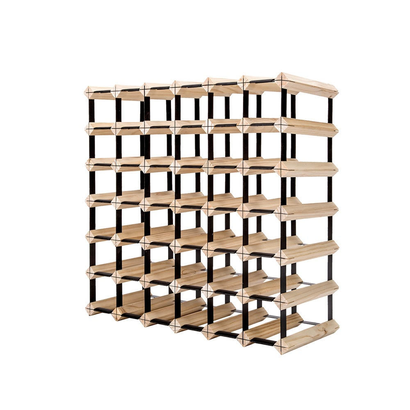 Glasshaus 42 Bottle Timber Wine Rack Wooden Storage System Cellar Organiser