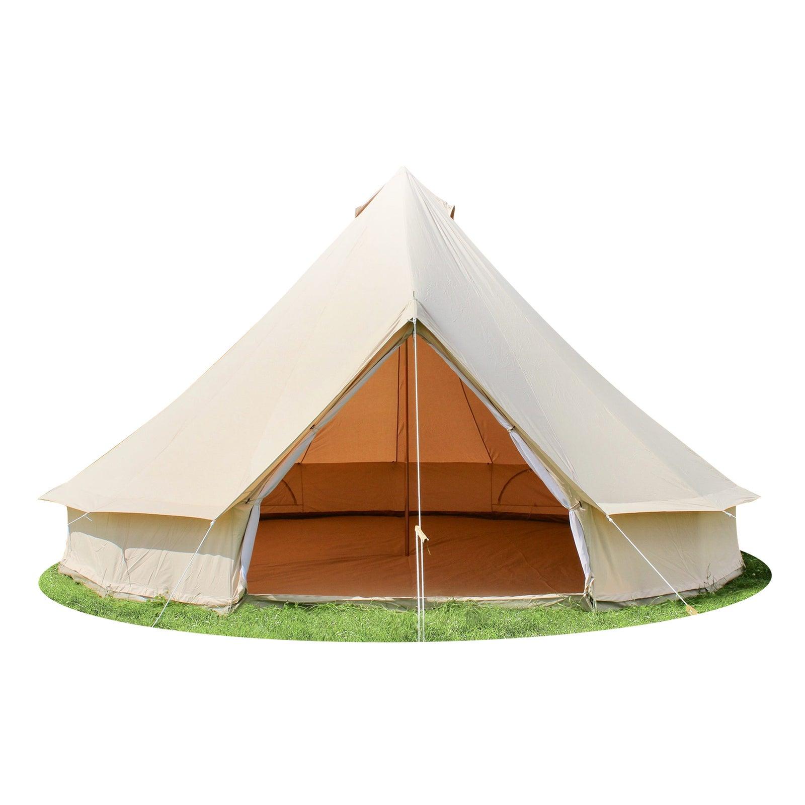 MIUZ 4-Season Bell Tent 3M 4M 5M 6M Waterproof Canvas belltent Glamping Yurt Teppee Tents