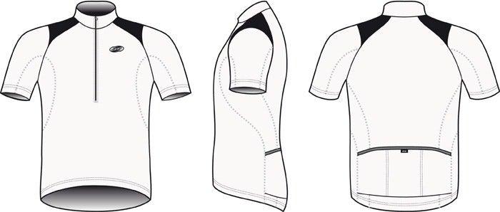 BBB Comfortfit Jersey BBW-105 - White Size L
