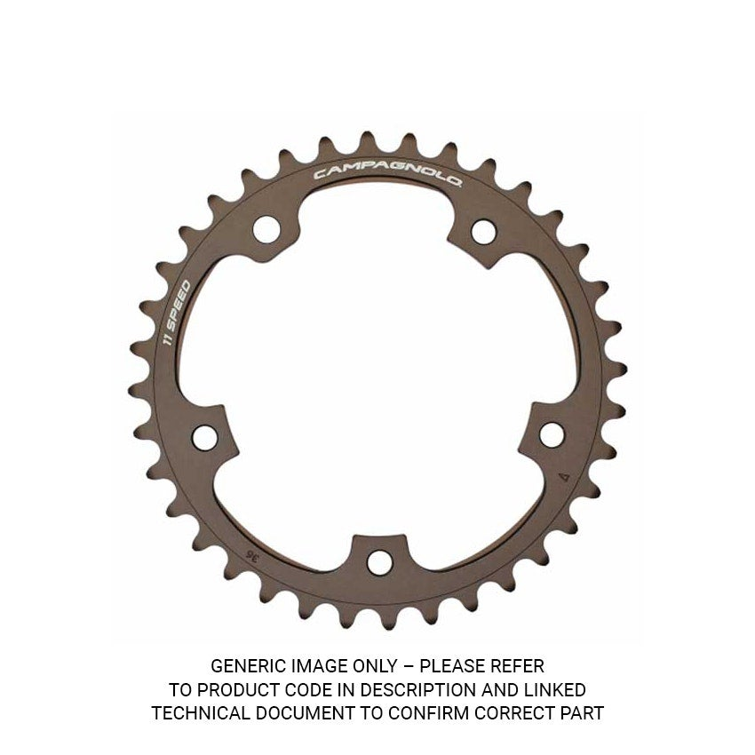 Campagnolo 52 Teeth To Suit 39 Chainring - 11S FC-SR152 - Black Size 52t