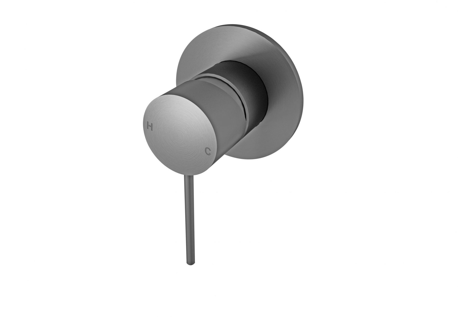 Nero Mecca Shower Wall Mixer Gun Metal Grey