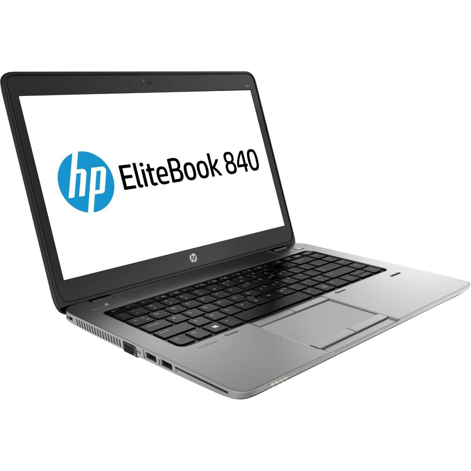 """HP Elitebook 840 G1 Intel i7 4600u 2.10Ghz 8Gb Ram 256Gb SDD 14"""" Win 10 Pro"""