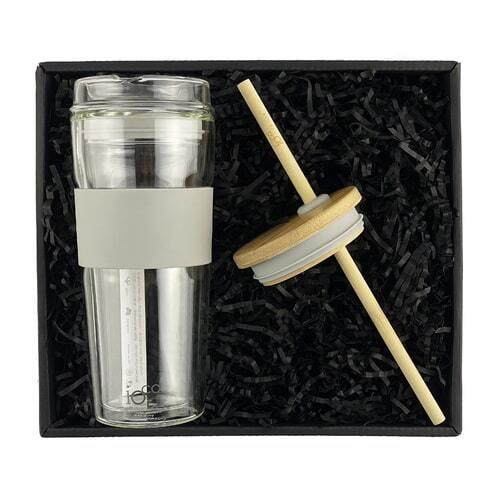 IOco Traveller Gift Pack - 16oz Warm Latte - Smoothie Lid