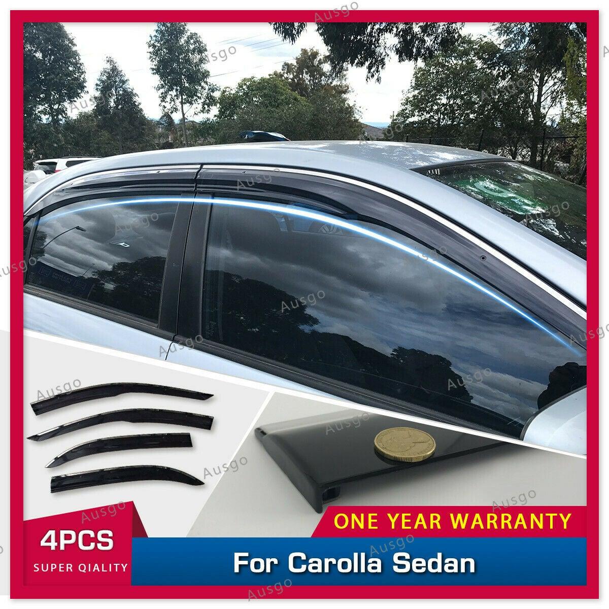 Stainless Steel Weathershields Weather Shields Window Visor for Toyota Corolla sedan 01-07 #T