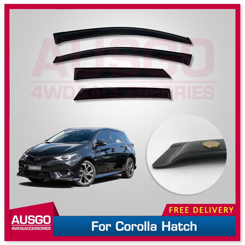 Weather Shields Weathershields Window Visors for Toyota Corolla Hatch 5D 12-18