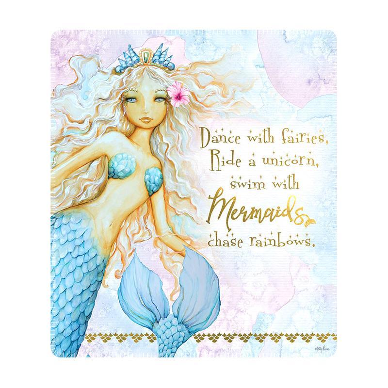 160Cm Soft Warm Luxe Throw Cozy Stylish Drape Blanket Flower Mermaid