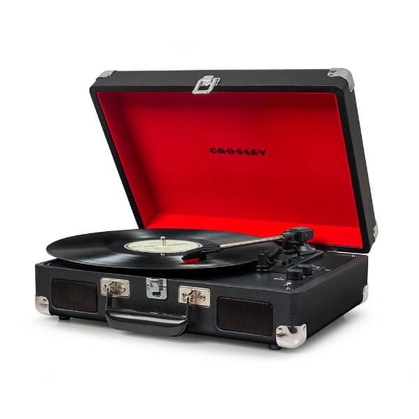 Crosley Cruiser Deluxe Portable Turntable - Black