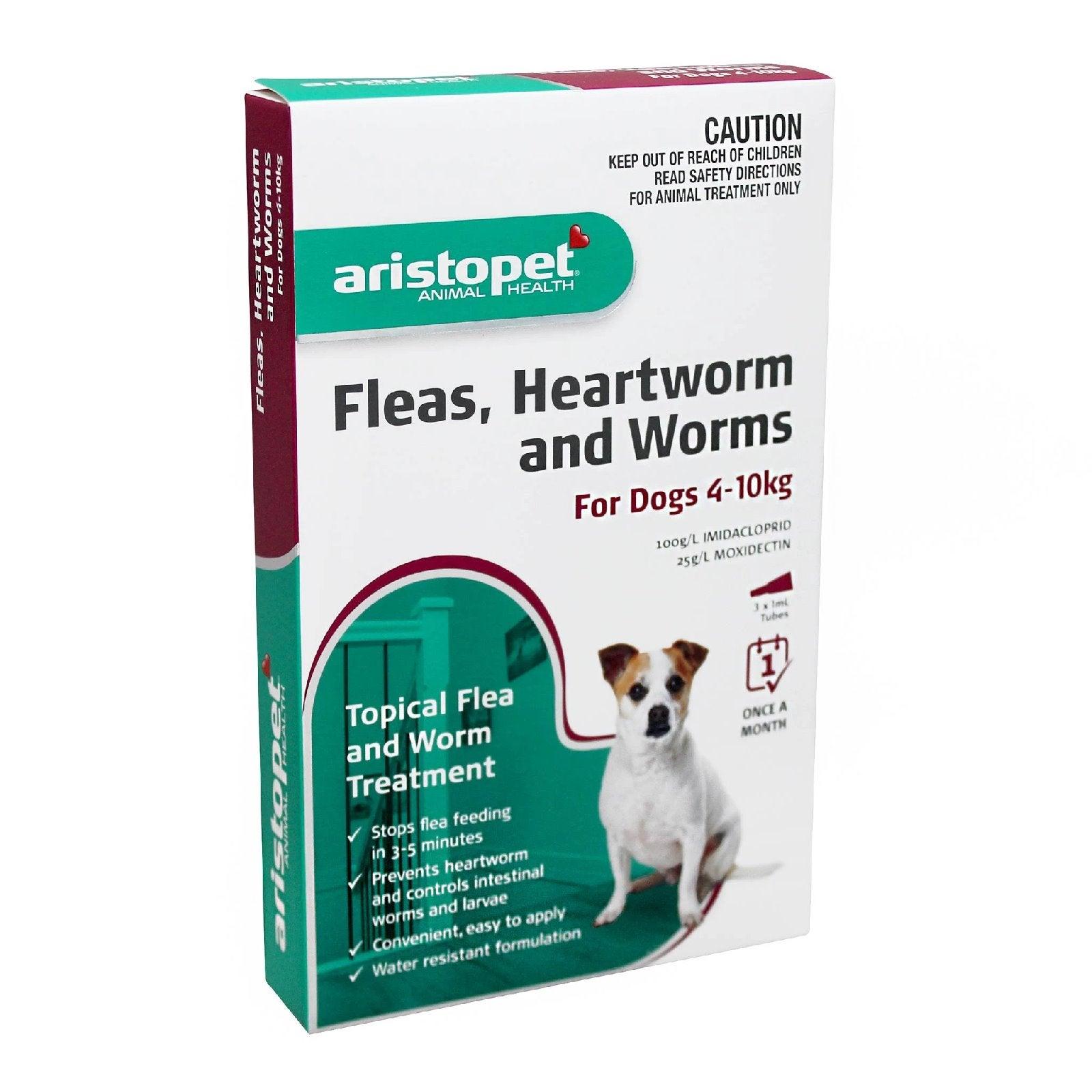Aristopet Spot-on Flea, Heartworm & All-Wormer - Dogs 4-10kg