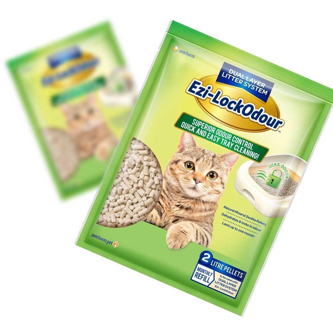 Ezi LockOdour Natural Mineral Zeolite Cat Litter Pellets 2kg