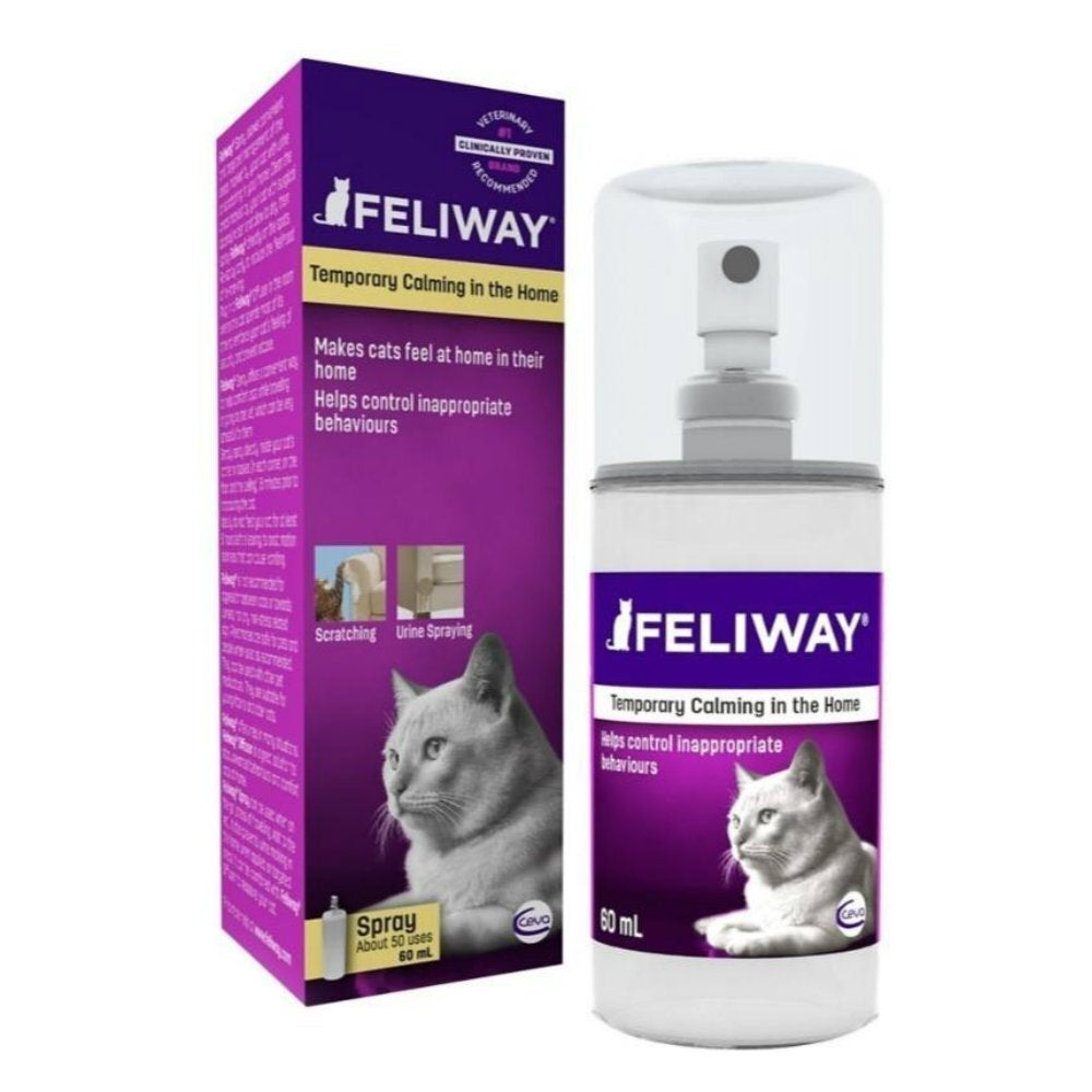 Feliway Anti-Anxiety Calming Pheromone Spray for Cats - 60ml