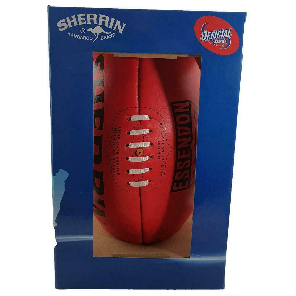 Sherrin Limited Edition Essendon Bombers Size 5 AFL Leather Football