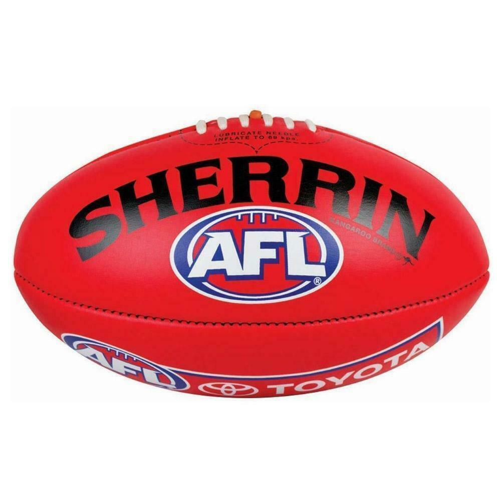 The Official Game Ball Of The AFL - Red Premiership Season Ball From Sherrin