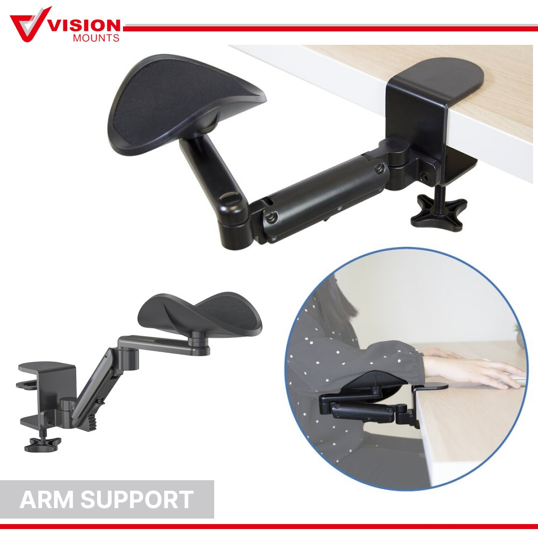 Computer Elbow Armrest Hand Arm Support Device Wrist Rest Mouse Desktop Office