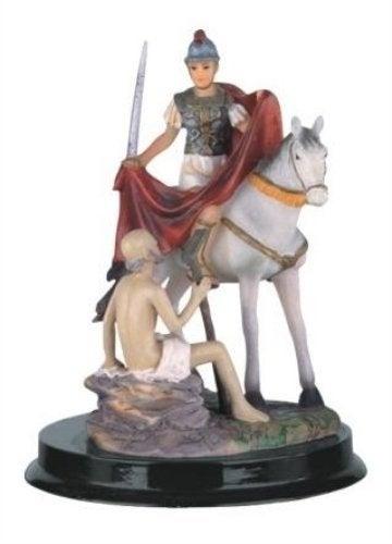 13cm Saint Martin Of Tours Holy Figurine Religious Decoration Decor