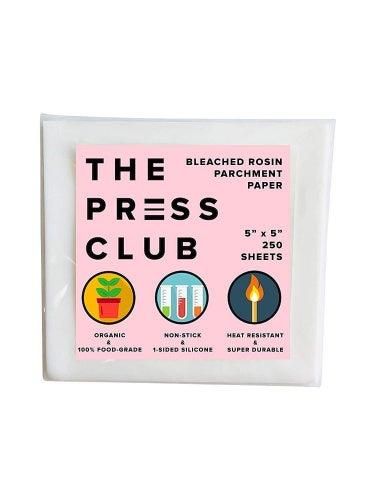 (13cm x 13cm ) - Premium Super Slick Rosin Parchment Paper Squares - 250 Sheets - 13cm x 13cm - 1-Sided Coating - 100% Food-Grade Silicone - 2X Thicker - Reusable