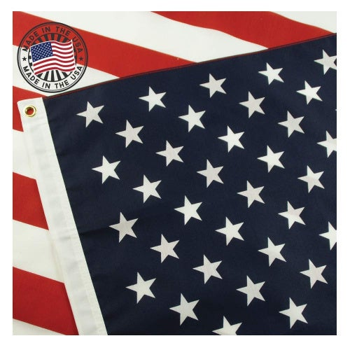 American Flag: 100% Made In Usa Certified By Grace Alley. 0.9m x 1.5m