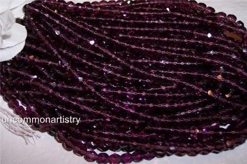 Amethyst Czech Fire Polish 6mm Beads Q.50