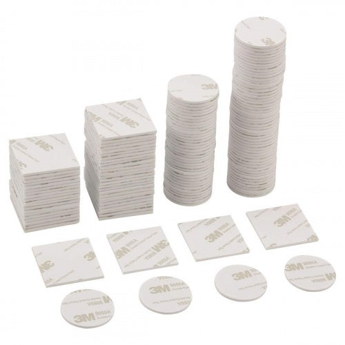 ANPHSIN 150Pcs Double Sided Foam Pads, 3M Adhesive Mounting Tape Stickers - Round and Square Double Sided Tape