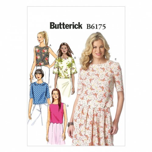 Butterick Patterns B6175E50 Misses' Top Sewing Template, E5 (14-16-18-20-22)