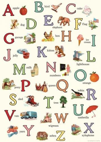 Cavallini & Co. English Alphabet Decorative Decoupage Poster Wrapping Paper Sheet