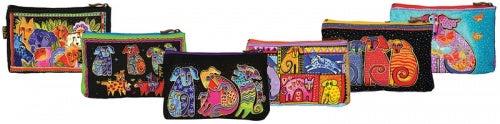 """Cosmetic Bag Zipper Top Assortment 23cm x 2.5cm X6""""-Dog Tales -Assorted Designs"""