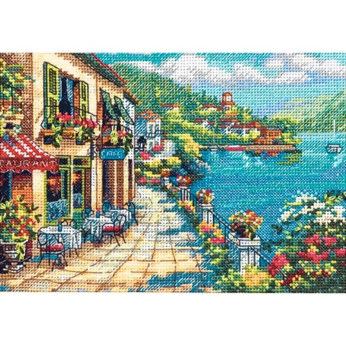 Dimensions Gold Counted Cross Stitch kit - Overlook Cafe