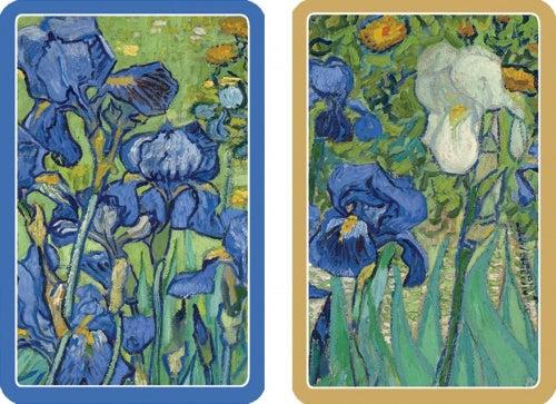 Entertaining with Caspari Double Deck of Bridge Playing Cards, Jumbo Type, Van Gogh Irises