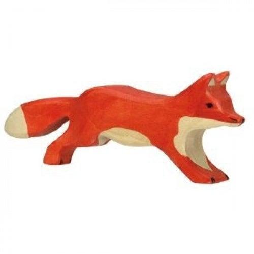 Holztiger Running Fox Wooden Figure