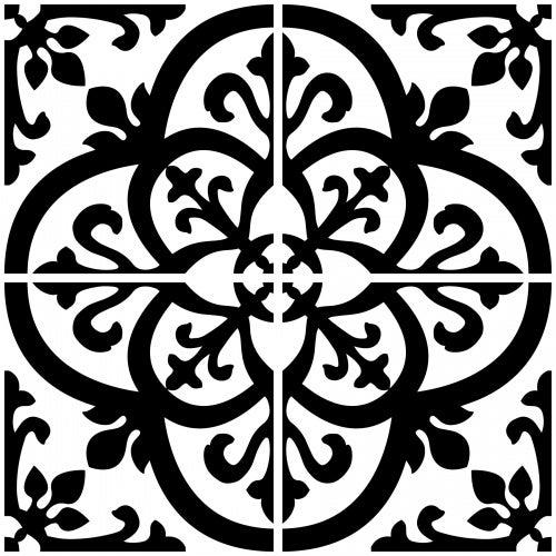 InHome NH2956 Avignon Peel & Stick Backsplash Tiles, Black