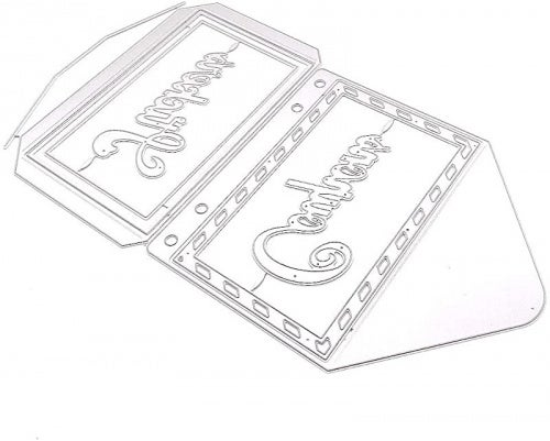 KSCRAFT Journal Planner Envelope Metal Cutting Dies Stencils for DIY Scrapbooking Decorative Embossing DIY Paper Cards